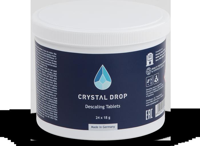 Descaling Tablets 24 pcs, Crystal Drop